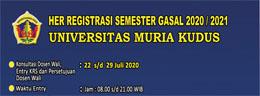 Jadwal Her Registrasi Mahasiswa Semester Gasal 2020/2021