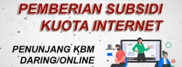 Pemberian Subsidi Kuota Internet KBM Daring